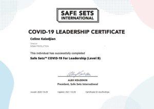 Certification Safe Set COVID-19 - Celine Kaladjian